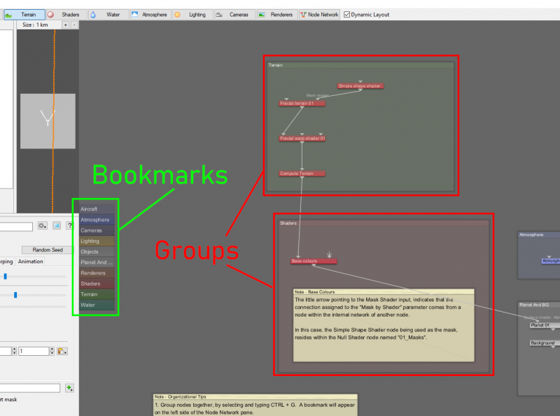 Bookmarks and Groups