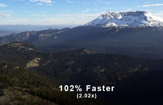 102% Faster