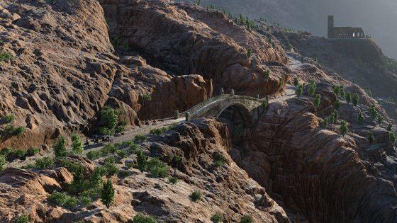 Mountain Bridge by Ulco Glimmerveen