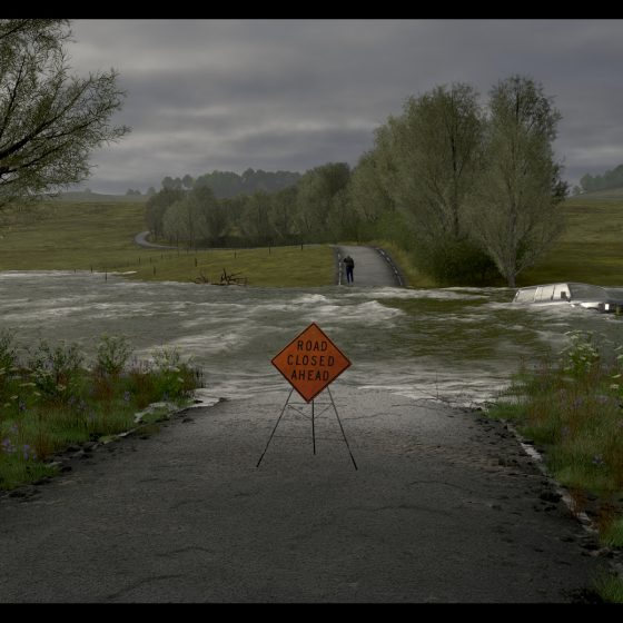 Flooded Road by Ulco Glimmerveen