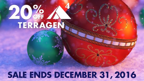 20% off Terragen through December 31st, 2016!