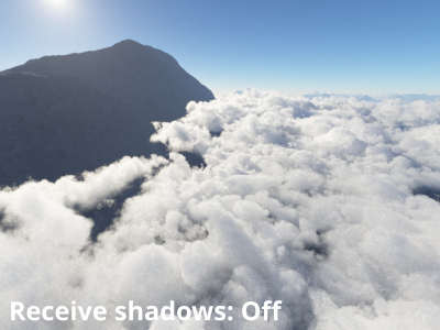 Receive shadows from surfaces = Off