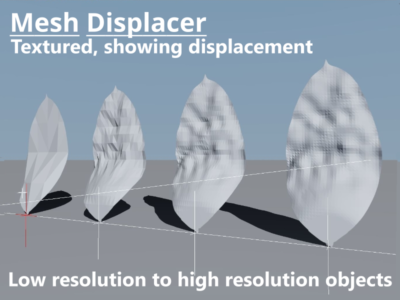 Displacement applied to non-shadered objects.