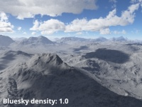 Bluesky density = 1