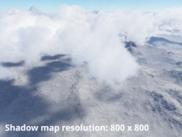 Shadow map resolution = 800 x 800