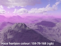 Horizon colour 159,79,168 (rgb)
