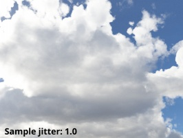 Sample jitter = 1.0