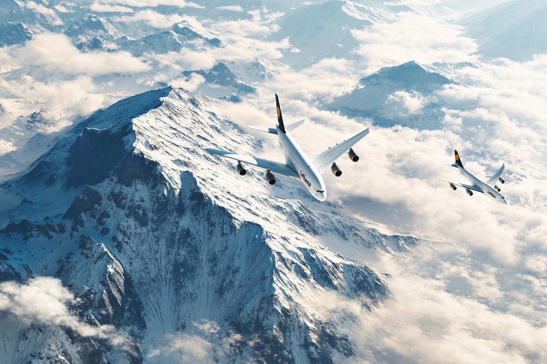 Lufthansa and Terragen – Plane...