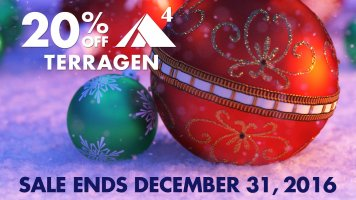 20% off Terragen through December 31st, 2016!