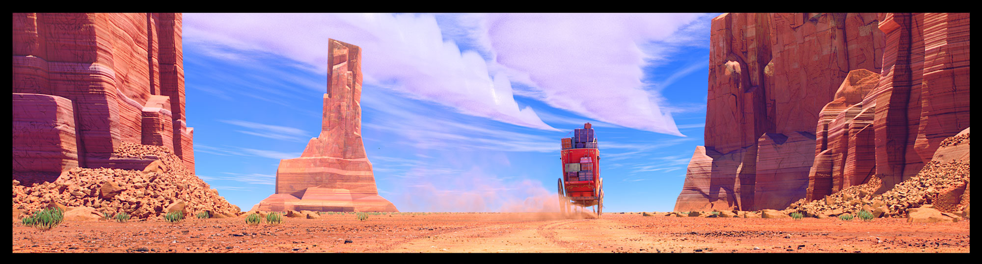 The California Desert environment in LAIKA's Missing Link