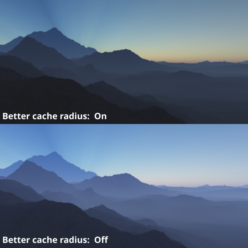 Atmosphere Better cache radius.